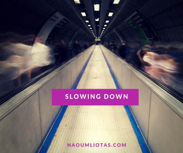 slowing down in the underground of London