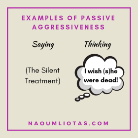 the ultimate passive aggressive behaviour connected with silence