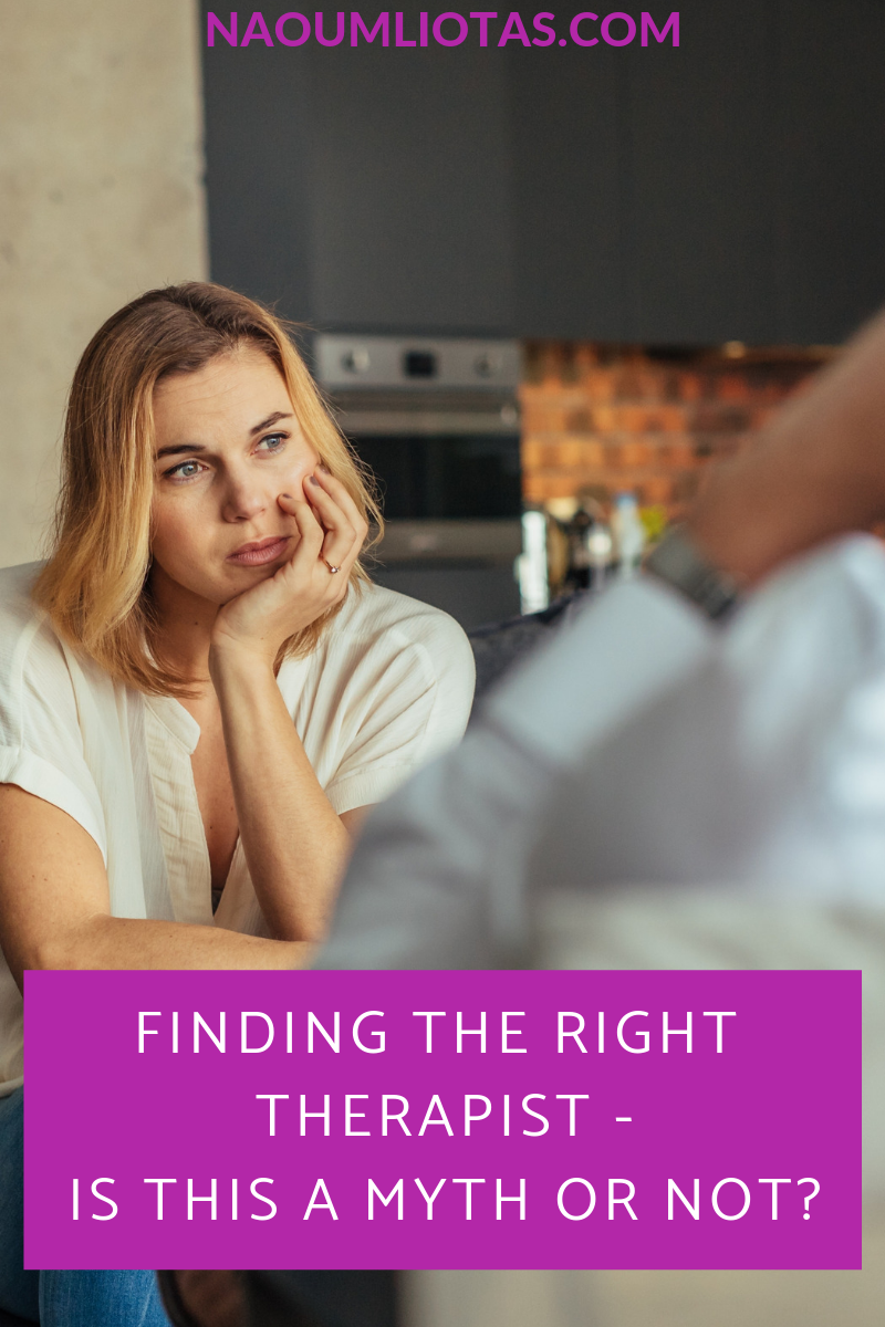 Finding the right therapist – Is this a myth?